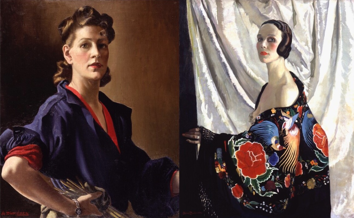 La pintura de las Zinkeisen, del glamour a la guerra
