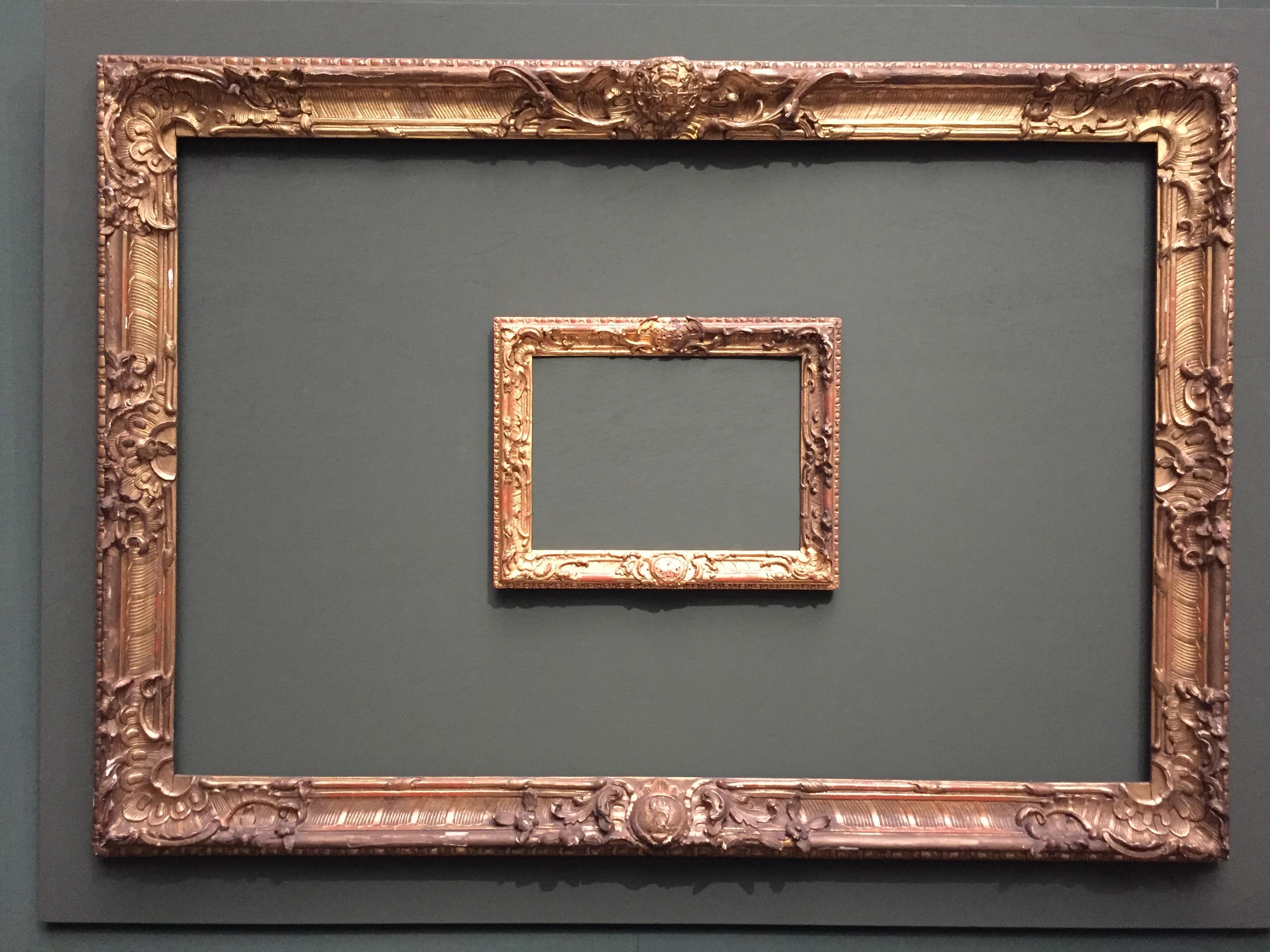 "El marco como obra de arte ""per se"""