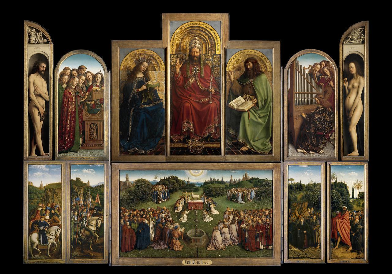 Ante la restauración del políptico de los hermanos van Eyck de Gante