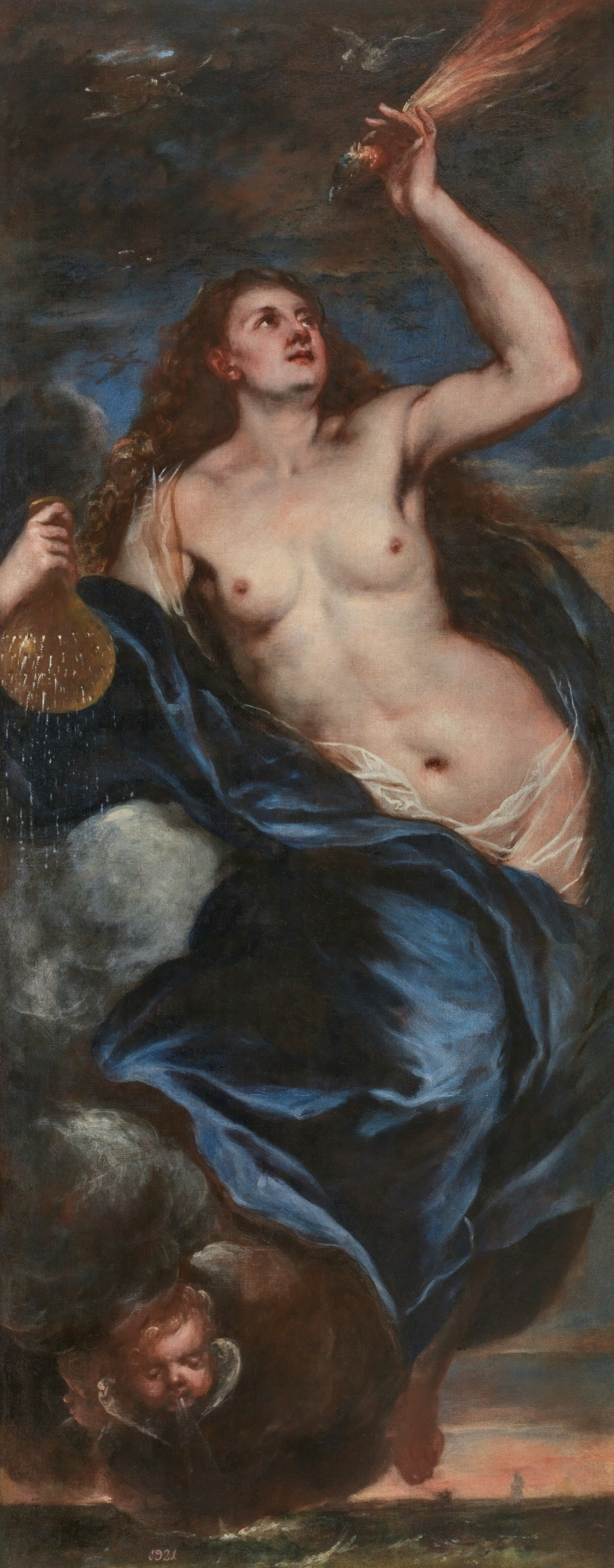 """Un detalle de la pintura """"El Aire"""" del Museo del Prado"""